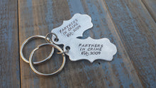 Partners In Crime Custom Hand Stamped Best Friends Ornate Aluminum Key Chain by MyBella