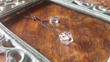 Swarovski Crystal Ice Custom Length Lariat with Your Choice Chain Length with Petite Square Crystal by MyBella