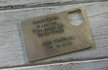 Greater Love Hath No Man Than To Lay Down His Life For His Friends Police Officers EOW Aluminum Memorial Wallet Card by MyBella