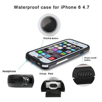 100% Sealed Waterproof Case For iPhone 6 6s Plus Slim Luxury Underwater Life Dirt Proof Shockproof Swim Protective Cover Bag - Justt Click
