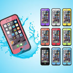 100% Sealed Waterproof Case For iPhone 6 6s Plus Slim Luxury Underwater Life Dirt Proof Shockproof Swim Protective Cover Bag-Justt Click