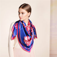 100% Silk Scarf New Arrival,Classic 106*106cm Infinity Premium Shawl,Multy Use Wrap-Justt Click