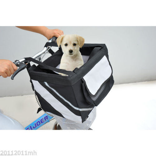 Bicycle Pet Carrier Dog Cat Portable Crate Basket-Justt Click