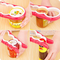 1Pcs Creative Silicone Multi-functional Four In One Bottle Opener Home Safe Open Cans Anti-skid Cap Kitchen Tool Barware 7zcx623-Justt Click