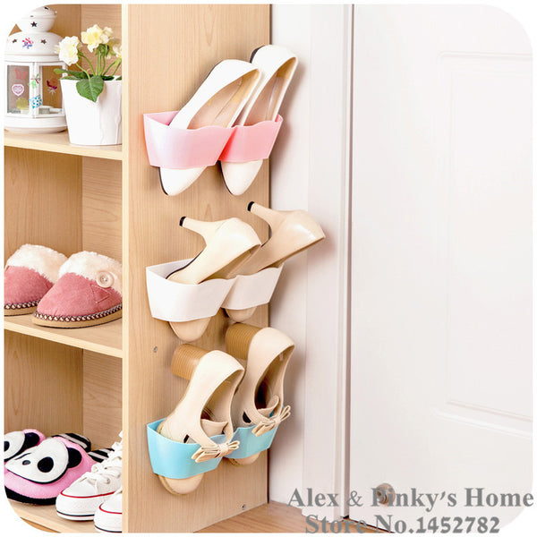 Living Room Bathroom storage shelf,suction wall shoe rack,shoes shelf-Justt Click