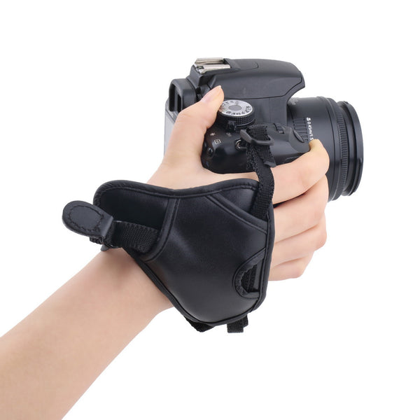 1pc PU Leather Soft Camera Hand Grip Wrist Strap for Canon Nikon Sony SLR/DSLR-Justt Click