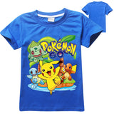 New 2017 Kids Boys Short Sleeve Pokemon Tshirt-Justt Click
