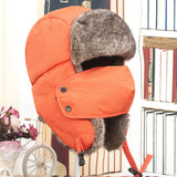 2014 Russian Bomber Hats Warm Winter Men and Women Unisex Earmuffs Cap With Mask-Justt Click