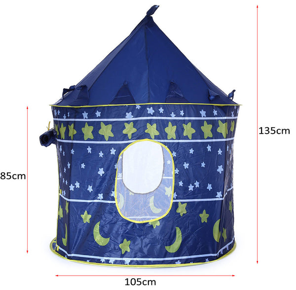 Portable Children Folding Play House Castle Cubby Outdoor Indoor Toy Tent-Justt Click