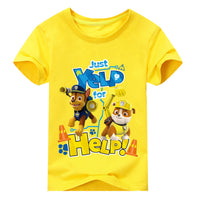 New Boys Girls Short Sleeves paw Patrol Tshirt-Justt Click