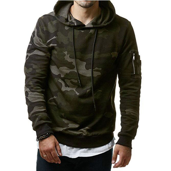 2017 New Mens Hoodies and Sweatshirts Zipper Hooded Sweatshirts Male Clothing Fashion Military-Justt Click