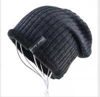 2017 Winter knitted cap men beanie wool hats for men - Justt Click