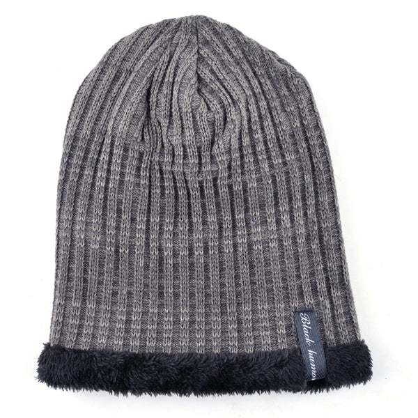 2017 Winter knitted cap men beanie wool hats for men-Justt Click