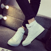 Men canvas shoes male High-top pure black casual shoes footwear-Justt Click