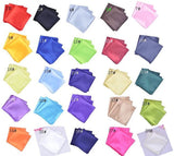 25PCS Wholesale Solid Color Vintage Fashion Party High Quality Men's Handkerchief Groomsmen-Justt Click