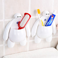2 Pcs Baymax Toothbrush Holder Bathroom Kitchen Toothbrush Suction Cups - Justt Click