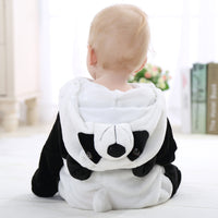 3D Panda Duck Cute Animal Kids Sleepwear Soft Flannel Children Coverall Footed Pajamas Baby Boys Girls Sleepwear Fit 0-24 Month - Justt Click