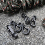 5X Useful Stainless Steel Split Keychain Key Ring Clasps Clips Hook Carabiner - Justt Click