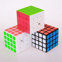 4x4x4 QIYI puzzle magic cube 62 mm speed sticker less educational Anti stress reliever cubes toys for children professional cubo-Justt Click