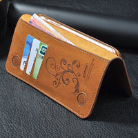 5.5 Universal Vintage Leather Flip Wallet Pouch For iPhone 8 7 Plus For Samsung S7 5.5 Inch Cell Phone Case CORNMI - Justt Click