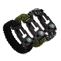 Survival Bracelet Compass/Flint//Whistle Camping Gear Kits-Justt Click