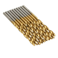 50Pcs 1/1.5/2/2.5/3mm Titanium Coated HSS High Speed Steel Drill Bit Set-Justt Click