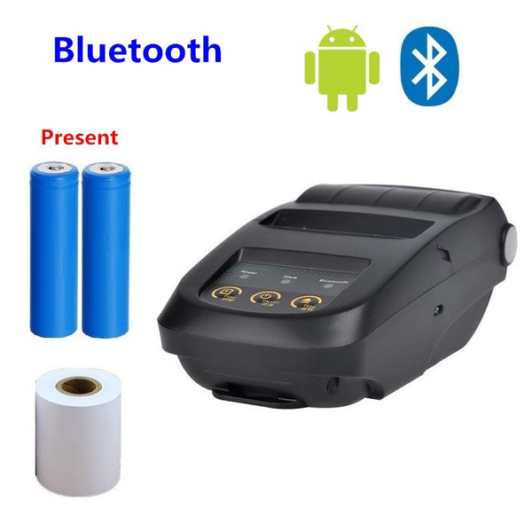 58mm Mini Bluetooth Printer Android Thermal Printer Wireless Receipt Printer Mobile Portable-Justt Click
