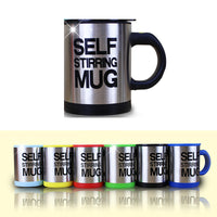 6 Color Mug Automatic Electric Lazy Self Stirring Mug Auto Coffee Milk Mixing Self Stirring Coffee Stainless Steel-Justt Click