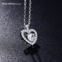 Anfansi Romantic Fashion Women Necklace Jewelry Silver AAA Zircon Heart Pendant-Justt Click