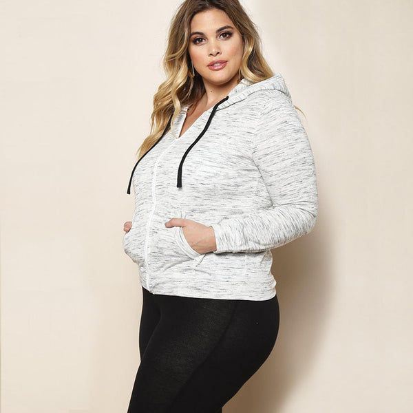 Autumn and Winter Casual Hoodies Women Zip Plus Size Sweatshirts Knitted Zip Up Outerwear Long Sleeves Oversized Hoodies 2017-Justt Click