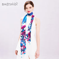 New High Quality Women Silk Scarf Printed Luxury Brand-Justt Click