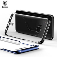Hard Transparent Case For Samsung Galaxy S8 Cases Luxury Plating Thin Clear Back Cover Case-Justt Click