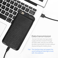 Battery Charger Case For iPhone 6 6 Plus 7300mAh Backup Power Bank For iPhone 6s Portable External Battery Powerbank Case - Justt Click