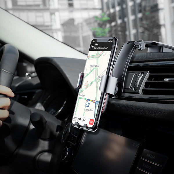 2018 Gravity Car Phone Holder For iPhone X Samsung Car Mount Holder For Phone Metal Plate Cellphone Mobile Phone Holder Stand-Justt Click