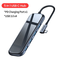 USB Type C HUB to HDMI RJ45 Multi USB 3.0 USB3.0 Power Adapter For MacBook Pro Air Dock 3 Port USB-C USB HUB Splitter Hab-Justt Click