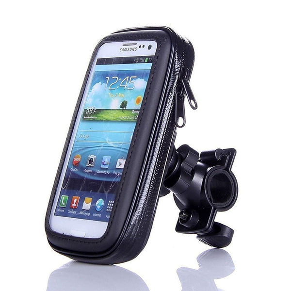 Bike Bicycle Phone Stand Holder Motorcycle Mount Holder with Waterproof Bag for Samsung Galaxy J5-Justt Click