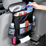 Black Car Back Seat Organizer Storage Bag Car Hanging Bag Multi-Pocket Auto Car Storage Tissue Box car-styling-Justt Click
