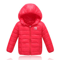 Boys Winter Jacket New Brand Hooded Kids Girls Winter Coat Long Sleeve WindProof Children Down Coat Outwear Warm 4-12 Years-Justt Click