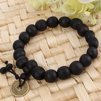 Wood Buddha Buddhist Prayer Beads Tibet Bracelet Mala Bangle Wrist Ornament GL-Justt Click