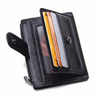 Genuine Leather Men Money Clips Fashion Pocket Clamp For Money Holder Brand Design Money Clip Wallet With Card ID Case-Justt Click
