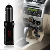 Mp3 Player Bluetooth Wireless Transmitter car kit with 2 USB Ports-Justt Click