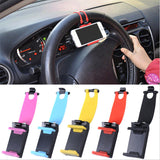 Car Steering Wheel Mount Holder Rubber Band For MP4 GPS Mobile Phone-Justt Click