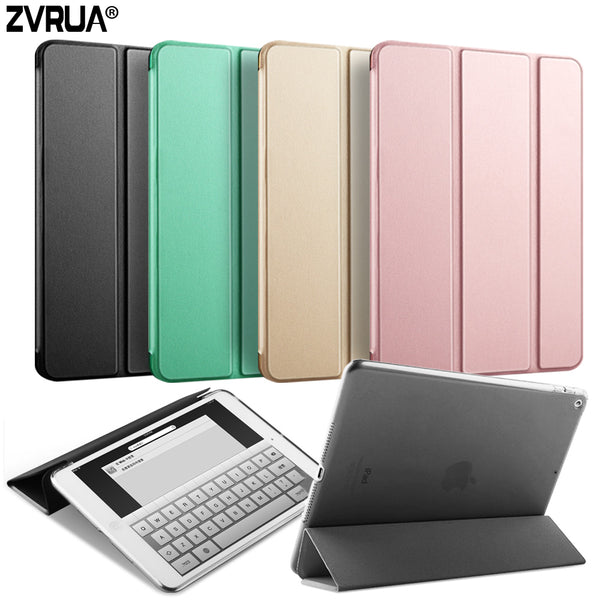 Case for New iPad 9.7 inch 2017, ZVRUA YiPPee Color PU Smart Cover Case Magnet wake up sleep For New iPad 2017 model A1822 A1823 - Justt Click