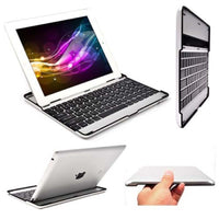 Ultra Slim Bluetooth Wireless Keyboard Case Cover Stand for ipad 2 3 4 iPad Air 1 Air 2-Justt Click