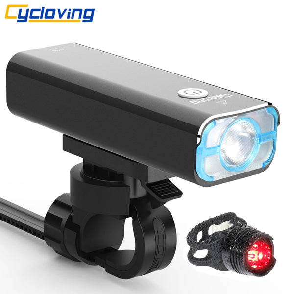 Cycloving LED Bicycle light Bike headlight waterproof 1200lumens 5modes recharageable bike accessories - Justt Click
