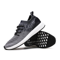 New Men Shoes Lace up Fashion brand Mesh Spring Summer shoes Flats Solid Men Sneakers Casual shoes man ST175-Justt Click