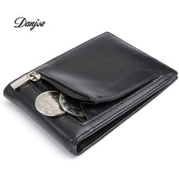 100% Genuine Cow Leather Men Money Clips Vintage Slim Credit Card Clip Purse Coin-Justt Click