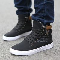 Fashion Mens Shoes New Arrival Retro Style Casual High Top Sneakers Canvas Shoes-Justt Click