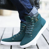 Fashion Mens Shoes New Arrival Retro Style Casual High Top Sneakers Canvas Shoes - Justt Click