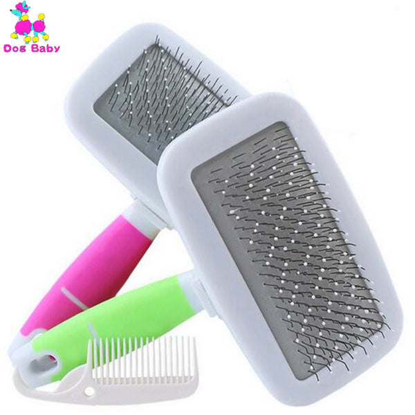 DOGBABY Cat Comb Steel Brush Comb Dogs Grooming Puppy Cat Hair Clean Tool - Justt Click